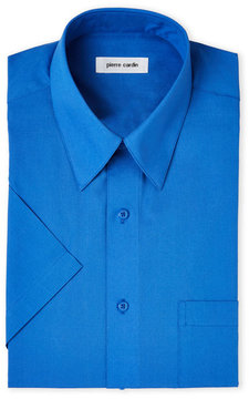 Pierre Cardin Cobalt Short Sleeve Chest Pocket Dress Shirt