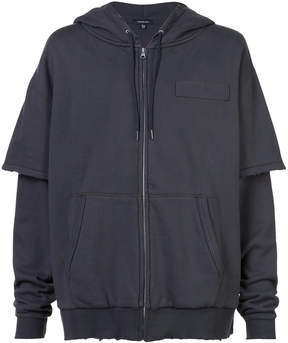 R 13 oversized zipped hoodie