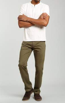 Mavi Jeans Zach Straight Leg In Green Olive Twill