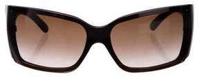 Chanel Tortoiseshell Shield Sunglasses
