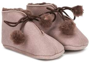 Pépé fur trim crib shoes
