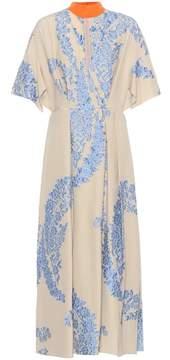 Fendi Silk-blend embellished dress