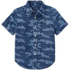 Polo Ralph Lauren Boys' Short-Sleeve Camouflage Shirt - Little Kid