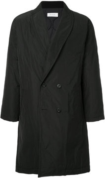 EN ROUTE straight V-neck buttoned coat
