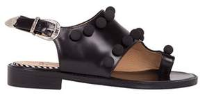 Toga Pulla Women's Black Leather Sandals.