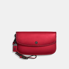 COACH Coach Clutch - BLACK/RED - STYLE