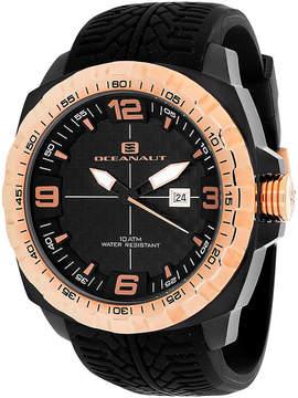 Oceanaut Mens Racer Black Silicon Strap Watch
