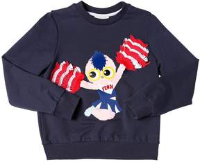Fendi Cheerleader Print Cotton Sweatshirt