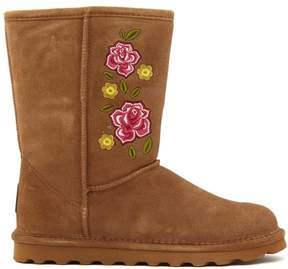 BearPaw Dreamer Suede Embroidered Boot with NeverWet