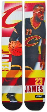 For Bare Feet Men's Cleveland Cavaliers LeBron James Pro Stripe Crew Socks