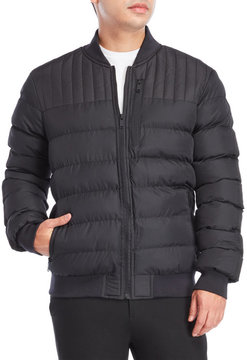 Brave Soul Quilted Puffer Bomber Jacket