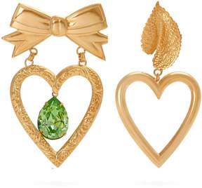 Rodarte Gold-plated dangle heart earrings