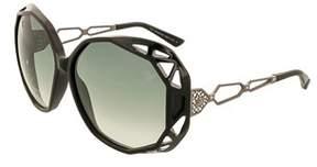 Swarovski Sk0022/s 01b Black Oversized Sunglasses.