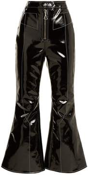 Ellery Sipsi kick-flare cropped patent trousers