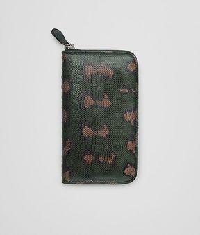 Bottega Veneta Intense Moss Karung Zip-Around Wallet