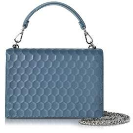 Rodo Women's Blue Leather Clutch.