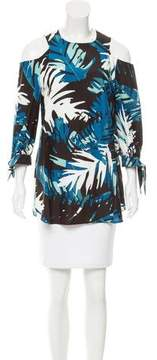 Timo Weiland Printed Cold Shoulder Top