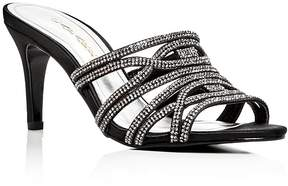 Caparros Impulse Embellished Satin High Heel Slide Sandals