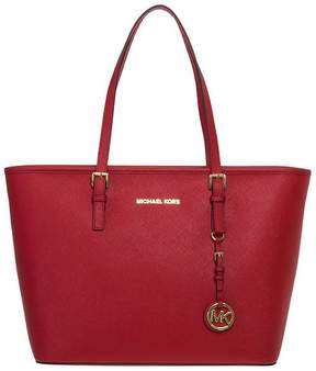 Michael Kors Shopping Jet Set Travel Top Zip Tote - BRIGHT-RED - STYLE