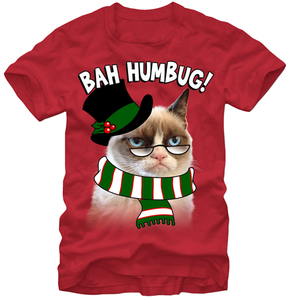 Fifth Sun Red Grumpy Cat Scrooge 'Bah Humbug!' Tee - Men's Regular