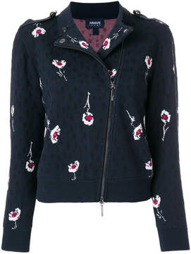 Armani Jeans embroidered biker jacket