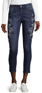 Democracy Solution Embroidered Ankle Skimmer Jeans