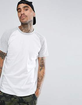 Pull&Bear Raglan T-Shirt In Gray