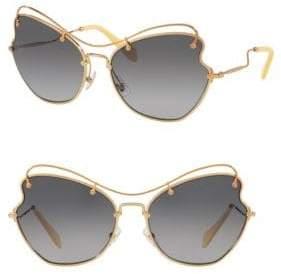 Miu Miu 65MM Waved Sunglasses