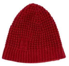 Hermes Cashmere Rib Knit Beanie