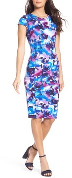 Felicity & Coco Women's Floral Ponte Sheath Dress