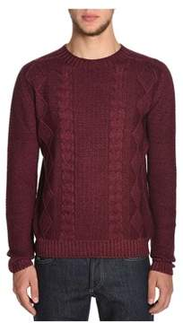H953 Men's Red Wool Sweater.