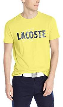 Lacoste Mens Printed T-Shirt Daphne Yellow/Navy-White