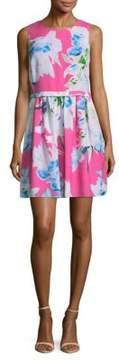 Cynthia Steffe Jordyn Floral Rainbow Mini Dress