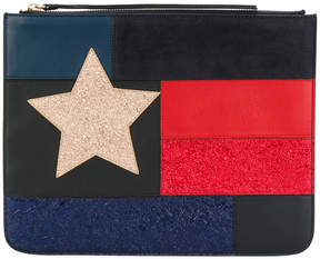 Tommy Hilfiger patchwork flag pouch