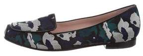 Opening Ceremony Jacquard Square-Toe Loafers
