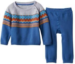 Cuddl Duds Baby Boy Fairisle Sweater & Pants Set
