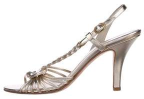 Bally Metallic Slingback Sandals