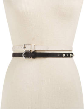INC International Concepts I.n.c. 2-for-1 Imitation Pearl & Smooth Belts, Created for Macy's