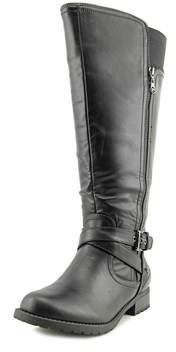 G by Guess Halsey Women Round Toe Synthetic Black Knee High Boot.