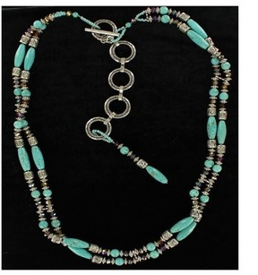 Ariat Western Womens Bet Beads Stones Siver Turquoise A1517236