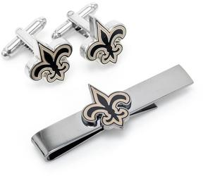 Ice New Orleans Saints Cufflinks and Tie Bar Gift Set