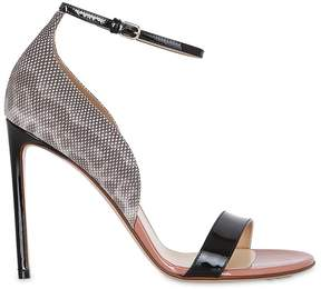 Francesco Russo 105mm Patent & Karung Leather Sandals