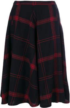 Bellerose checked flared skirt