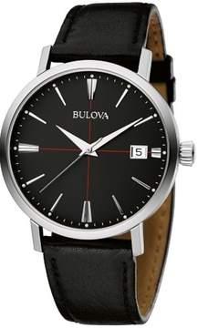 Bulova Aerojet Leather Mens Watch 96B243