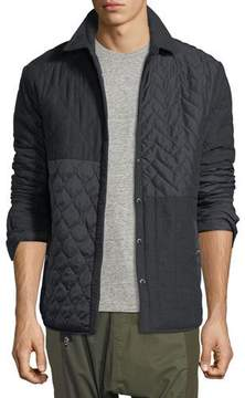 Mostly Heard Rarely Seen Mixed-Media Quilted Shirt Jacket