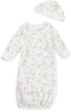 Little Me Baby Girls Newborn-3 Months Vintage Rose Gown & Hat Set
