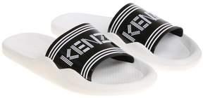 Kenzo Logo Striped Sliders