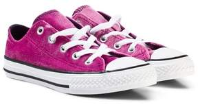Converse Pink Chuck Taylor All Star Double Tongue Junior Trainers