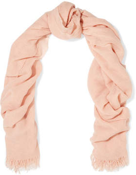 Brunello Cucinelli Fringed Cashmere-gauze Scarf - Pink