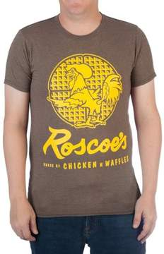 N. Movies & TV Big Men's Roscoe's Chicken Waffles Cotton Graphic Tee